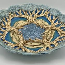 Cummings-Birch-Cynthia-Mandala Platter-Blue
