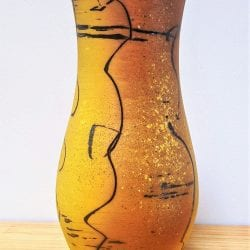David-Ernster-Porcelain-vase-with-yellow-terra-sig-and-drawing-11x4.51