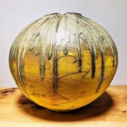 David-Ernster-Stoneware-Moon-jar-with-yellow-terra-sig-and-ash-glaze-18x181