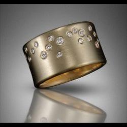 Elkin-Rick-14k gold Starfall ring with diamonds