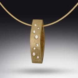 Elkin-Rick-Two-sided Starfall pendant in 14k gold and diamonds