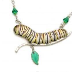 Golden-Lucy-Caterpillar-Necklace