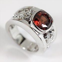 Richter-Paul-Custom-Red-Zircon-and-Diamond-Ring