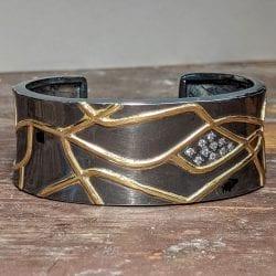 Richter-Paul-Pathways-Diamond-Cuff-Bracelet