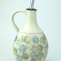 l.rollason_blueand-green-dot-with-leaf-inlay-oil-decanter